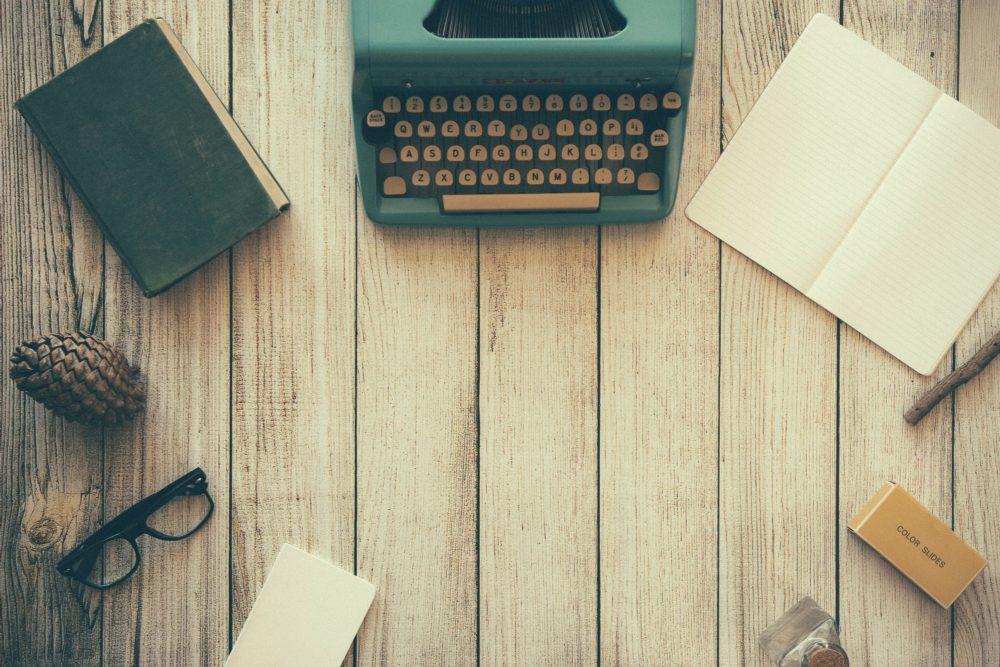 typewrite on a desk